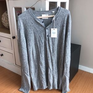 Billy Reid Speckled Henley NEW w/ tag